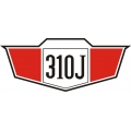 Cessna 310J Aircraft Decal/Sticker 2 3/8''h x 5 5/8''w!