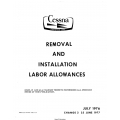 Cessna Removal and Installation Labor Allowances D5433-2-13 $13.95