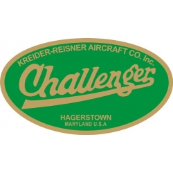 "Challenger Aircraft Decal 10 3/4"" wide by 6 1/8"" high!"