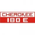 Piper Cherokee 180 E Aircraft Decal,Sticker 2''high x 6''wide!