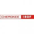 Piper Cherokee 180 F Aircraft Decal,Sticker 1 1/2''high x 12''wide!