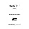 Piper Cherokee 180 F PA-28-180 Owner's Handbook $13.95