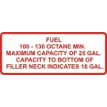 100-130 Octane Min Aircraft Gas Fuel Placards!
