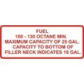 100-130 Octane Min Aircraft Gas Fuel Placards!