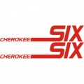 Piper Cherokee Six Aircraft Decal,Sticker 2 3/4''high x 9 1/8''wide!