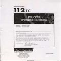 Gulfstream Commander 112TC Aircraft Pilot's Operating Handbook 1986 $13.95