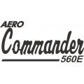 Aero-Commander 560E Aircraft Logo,Decals!