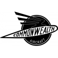 "Commonwealth Aircraft Decals, Vinyl Stickers 10"" wide by 5.9"" high!"