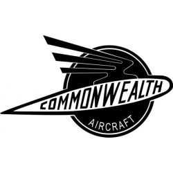 """Commonwealth Aircraft Decals, Vinyl Stickers 10"""" wide by 5.9"""" high!"""