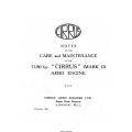 Cirrus Mark II Aero Engine Care and Maintenance $9.95