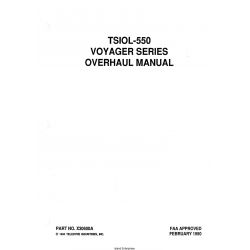 Continental TSIOL-550 Voyager Series Overhaul Manual X30600A $29.95
