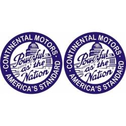 Continental Motors Aircraft Decal,Sticker 6''round diameter!