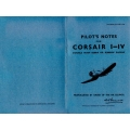 Corsair F. Mks. I, II, III, IV Pilot's Notes $2.95