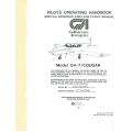 Grumman GA-7 Cougar  Pilot's Operating Handbook & Flight Manual 1978
