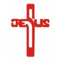 Word Jesus On the Cross! Decal/ Stickers!