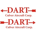 Culver Dart Aircraft Logo/Decal,Sticker!