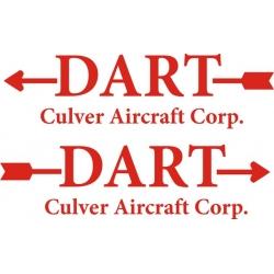 Culver Dart Aircraft Logo/Decal,Sticker!