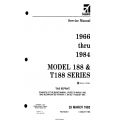 Cessna Model 188 & T188 Series (1966 thru 1984) Service Manual D2054-1-13 $29.95