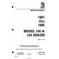 Cessna Model 180 & 185 Series (1981 thru 1985) Service Manual D2067-1-13 $29.95