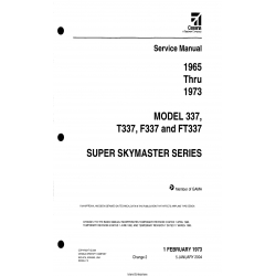 Cessna Model 337, T337, F337 & FT337 Super Skymaster Series (1965 thru 1973) Service Manual D2500-2-13