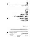 Cessna Model 404 Titan Ambassador, Courier & Freighter (1977 thru 1981) Service Manual D2517-15-13 $29.95