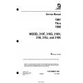 Cessna Model 310F THRU 310K (1961 thru 1966) Service Manual D455-5-13  $29.95
