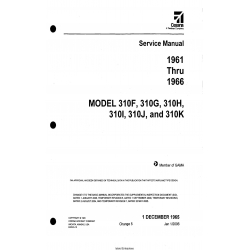 Cessna Model 310F THRU 310K (1961 thru 1966) Service Manual D455-5-13  $29.95