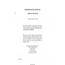 Diamond DA20-A1 Katana Maintenance Manual $13.95