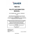 Daher TBM-910 Pilot's Information Manual T00.DMDPIPYEE0