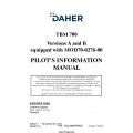 Daher TBM-700 Versions A and B equipped with MOD70-0276-00 Pilot's Information Manual T00.DMAPIPYEE1