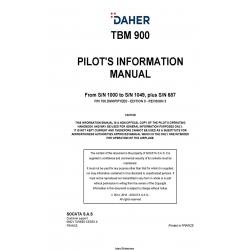 Daher TBM-900 Pilot's Information Manual T00.DMHPIPYEE0