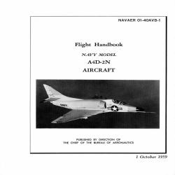 Douglas A4D-2N Aircraft Navy Model Flight Handbook