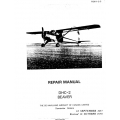 de Havilland Beaver DHC-2 Repair Manual 1957-1958  $12.95