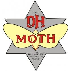 De Havilland Canada Moth Aircraft Logo,Decals!