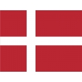 Denmark Flag Decal 4.5''wide x 3''high !