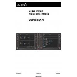 Garmin G1000/DA40 System Maintenance Manual 190-00303-03