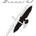 Discus Sailplane Decal/Sticker 9.5''w x 12''h!