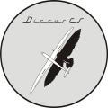 Discus CS Sailplane Decal/Sticker 15''round!