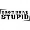 Don't Drive Stupid! Sticker/Decals!