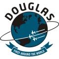 Douglas Aircraft Decal/Sticker 9 1/4''diameter!