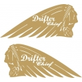 Drifter Chief Motorcycle Logo,Decals