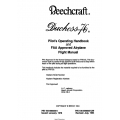 Beechcraft Duchess 76 Pilot's Operating Handbook and Flight Manual 105-590000-5A9  $13.95
