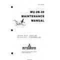 Mitsubishi MU-2B-20 Maintenance Manual YET68035 $29.95