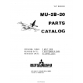 Mitsubishi MU-2B-20 Parts Catalog YET68036B $29.95