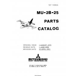 Mitsubishi MU-2B-25 Parts Catalog YET72092A