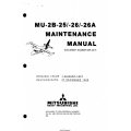 Mitsubishi MU-2B-25-26-26A Maintenance Manual MR-0215 $29.95