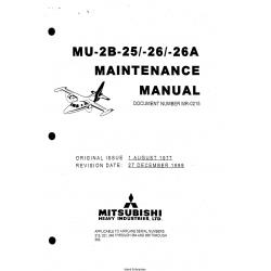 Mitsubishi MU-2B-25-26-26A Maintenance Manual MR-0215