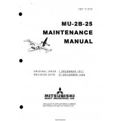 Mitsubishi MU-2B-25 Maintenance Manual YET71370