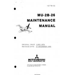 Mitsubishi MU-2B-26 Maintenance Manual YET74132
