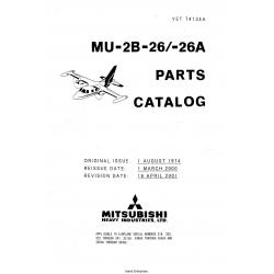Mitsubishi MU-2B-26-26A Parts Catalog YET74134A